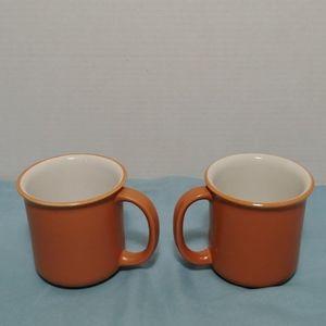 Crown Corning Japan Terra Cotta White Sonora Mugs